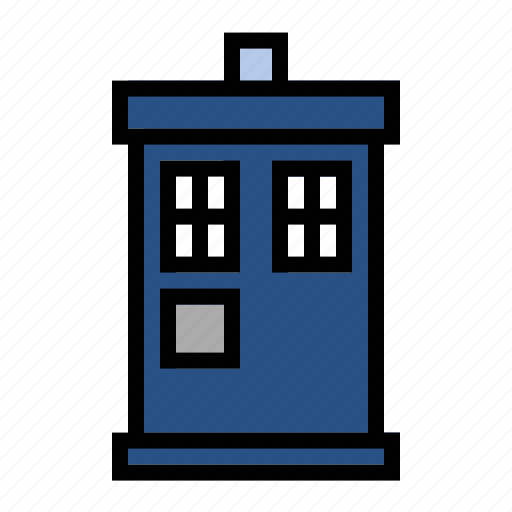 doctor who, tardis, the doctor, time machine icon