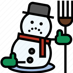 christmas, frosty, snow man, winter icon