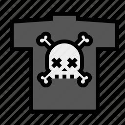 cross bones, rock-n-roll, skull, skull and bones, t-shirt icon