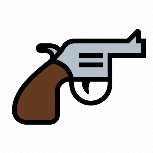 gun, pistol, revolver, weapon icon