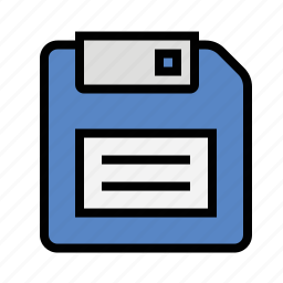 disc, disk, floppy disk, save icon
