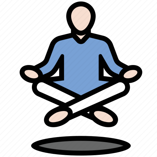 levitate, levitation, meditation, yogi icon