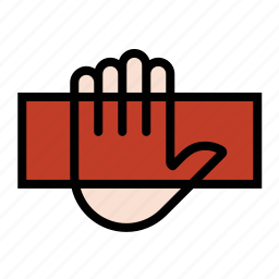biometrics, fingerprint, hand scanner, palm scanner icon