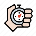 clock, hand, stopwatch, time icon