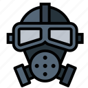gas, gas mask, mask, poison icon