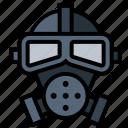 gas, gas mask, mask, poison icon