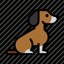 beagle, dog, pet, puppy icon