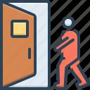 come, door, enter, open, accessibility, doorway, house door