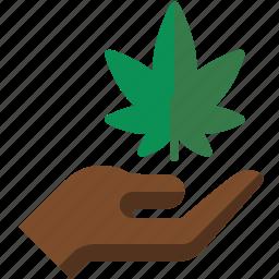 hand, marijuana, pot, weed icon