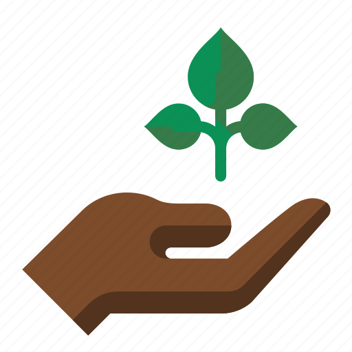 grow, growth, hand, plant, seedling icon