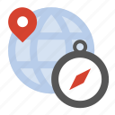 compass, geo location, global, globe, navigation icon