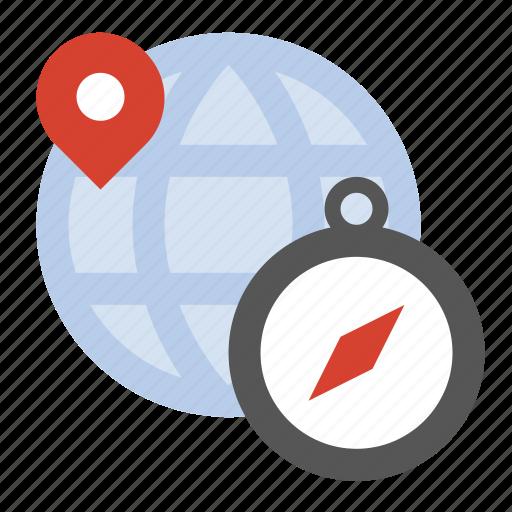 compass, geo location, global, globe, navigation icon