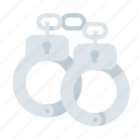 cops, cuffs, hand cuffs, police, shackles icon