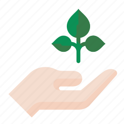 grow, hand, plant, seedling icon