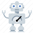 android, droid, mechanical man, robot icon