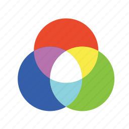 color chart, color picker, color wheel, prism icon