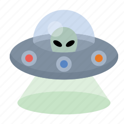alien, space craft, space ship, ufo icon