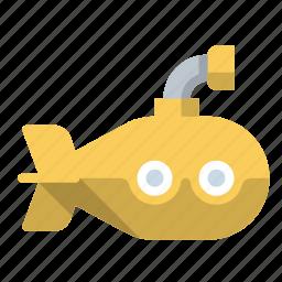 naval, ocean, submarine, submersible icon