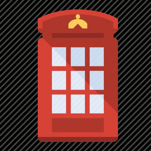 england, london, phone booth, phone box, united kingdom icon