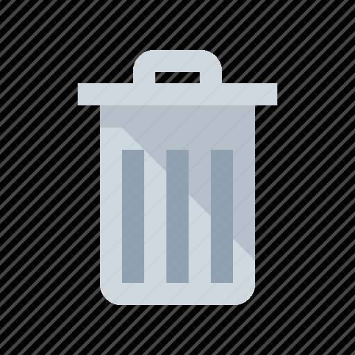 garbage, garbage can, trash, trash can, waste bin icon