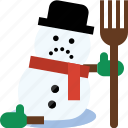 christmas, frosty, snow man, winter icon