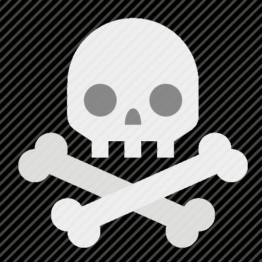 bones, death, skeleton, skull, skull and crossbones icon