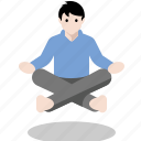 levitate, levitation, meditate, meditation, yoga icon