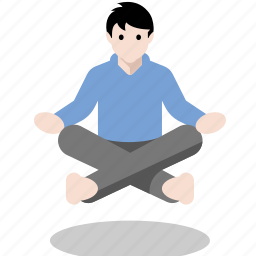 levitate, levitation, meditate, meditation, yoga icon