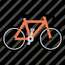 bicycle, bike, biking, cycling, fixed gear icon