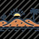 desert, sand, sandbar, thorn, landscape, cactus, barren