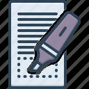 highlighted, displayed, marker, blogger, highlight, underline, underscore