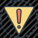 danger, peril, hazard, risk, jeopardy, exclamation, alert