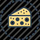cheese, tasty, slice, piece, delicious, gouda, gorgonzola