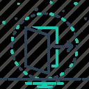 threshold, door, open, doorway, folder, gate, gateway
