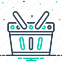 basket, hamper, container, punnet, shopping, trolley, shopping basket