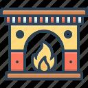 fireplace, chimney, mantelpiece, ingle, stovepipe, furnace