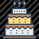 cake, birthday, candle, celebration, muffin, pastry, bakery