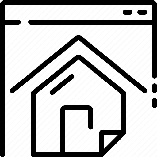 home, homepage, landing, mortgage, page, residence, website icon