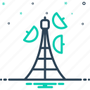 broadcasting, propagation, transmission, aerial, antenna, connection, network