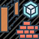 estate, house, brick, residental, architecture, architect icon