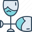 crystal, empty, frame, glass, sandblast, wineglass icon