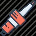 automobile, automotive, autopart, bolt, object, spark plug, vehicle icon