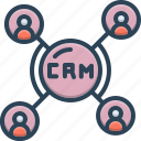 app, crm, customer, database, software icon