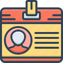 card, id, identification, identity, recognition icon