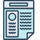 application, document, infographic, information, resume, summary icon