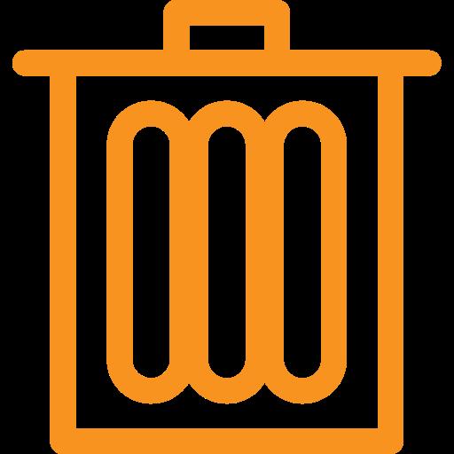 asset, bin, dustbin, rubbish, trash, wate icon