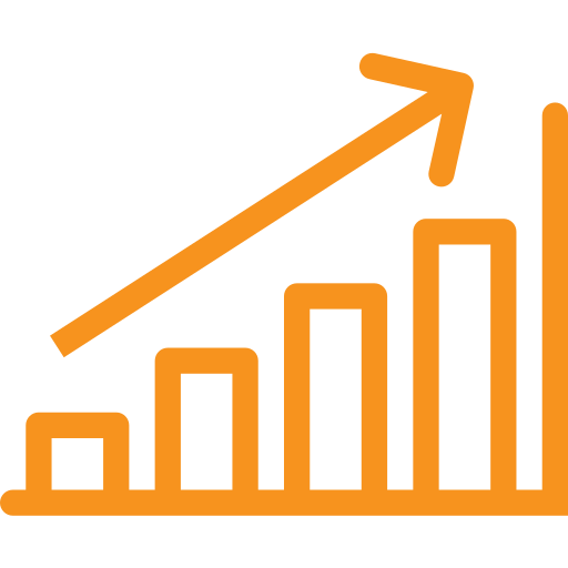 asset, bar graph, chart, graph, hike, inflation icon
