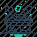 disorderly, disorganize, disorganized, haphazard, scrappy, straggling icon