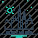 building, city, cityscape, dortmund, townsun icon