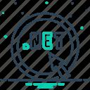 data, dotnet, innovation, network, technology icon